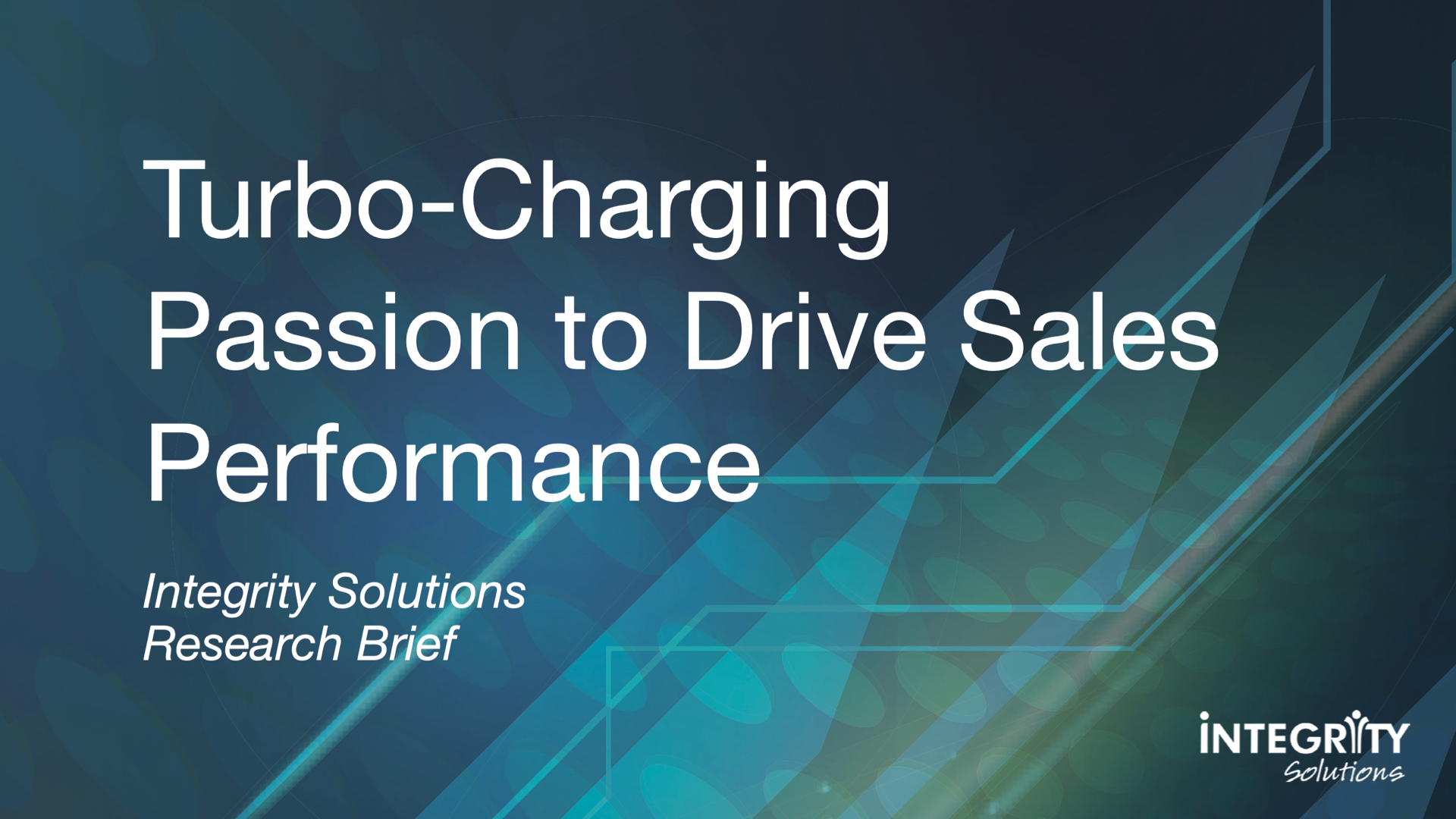 Turbo-Charging Passion to Drive Sales Performance